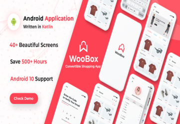 WooBox - WooCommerce Android App  E-commerce Full Mobile App + kotlin