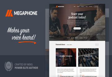 Megaphone - Audio Podcast WordPress Theme