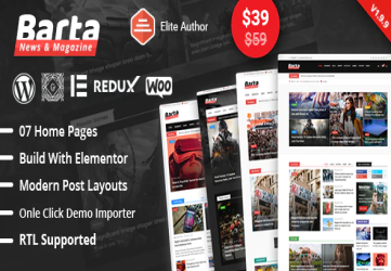 Barta - News & Magazine WordPress Theme
