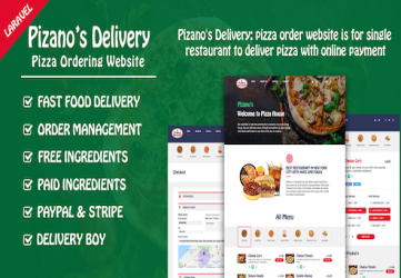 Pizano's Delivery: Unlimited pizza order website