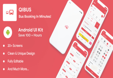 QIBus- Bus booking android app ui template - Kotlin