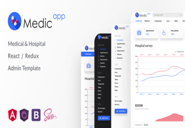 MedicApp - Medical & Hospital React/Redux admin template