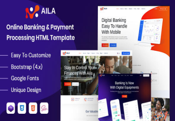 Aila - Online Banking & Payment HTML Template