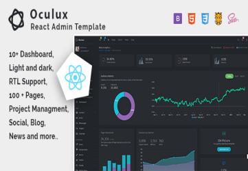 Oculux React - Admin Dashboard Template