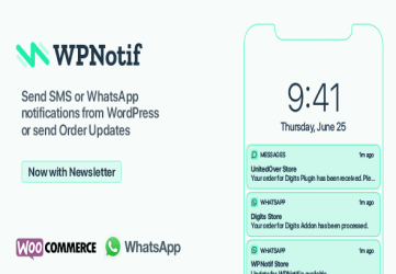 WPNotif: WordPress SMS & WhatsApp Message Notifications