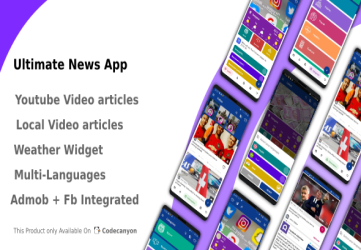 Ultimate News App (Video,Youtube,Weather,Survey)