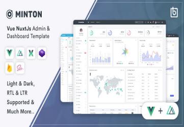 Minton - Vue Nuxt Admin & Dashboard Template