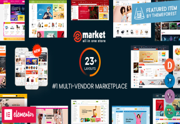 eMarket - Multi Vendor MarketPlace WordPress Theme (12+ Homepages & 2 Mobile Layouts Ready)