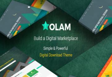 Olam - Easy Digital Downloads Marketplace WordPress Theme