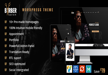 Barber - Hair, Tattoo & Beauty Salons WordPress Theme