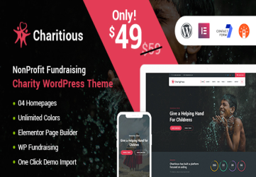 Charitious - NonProfit Fundraising Charity WordPress Theme