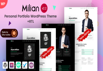 Milian - Personal Portfolio Elementor WordPress