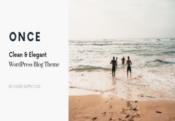 Once - Clean & Elegant WordPress Blog Theme
