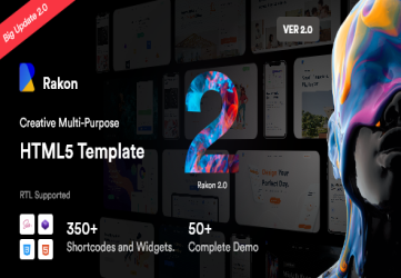 Rakon - HTML5 Landing Page Templates (RTL Supported)