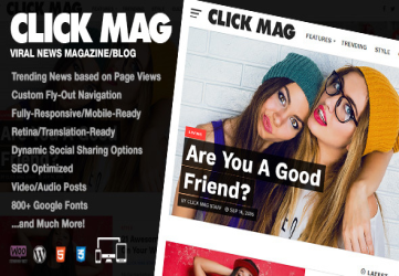 Click Mag - Viral WordPress News Magazine/Blog Theme