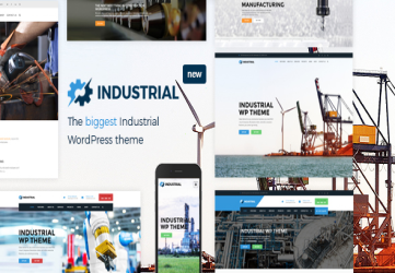 Industrial - Factory Business WordPress Theme