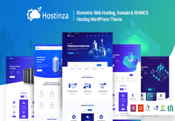 Hostinza - Isometric Domain & Whmcs Web Hosting WordPress Theme