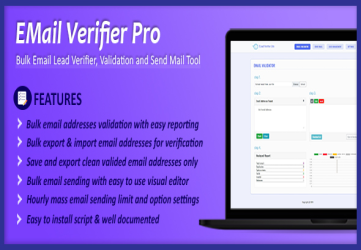 Email Verifier Pro - Bulk Email Addresses Validation, Mail Sender & Email Lead Management Tool
