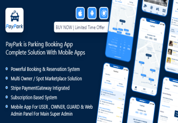 PayPark - Ultimate Parking Management System with mobile apps and admin panel