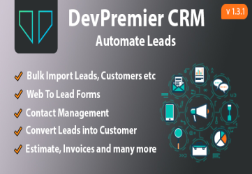 DevPremier CRM - Convert Leads into Customers