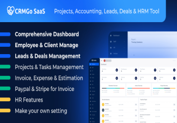 CRMGo SaaS - Projects, Accounting, Leads, Deals & HRM Tool