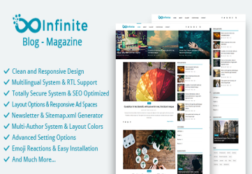 Infinite - Blog & Magazine Script