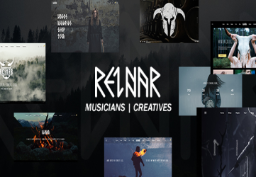Reinar - A Nordic Inspired Music and Creative WordPress Theme