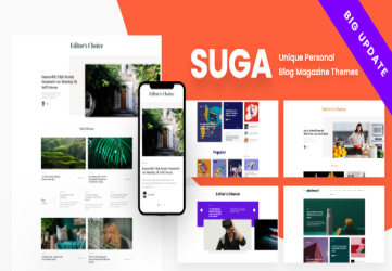 Suga - Magazine and Blog WordPress Theme