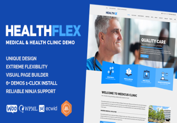 HEALTHFLEX - Doctor Medical Clinic & Health WordPress Theme