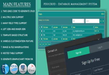 PDO Crud – Advanced PHP CRUD application (Form Builder & Database Management)