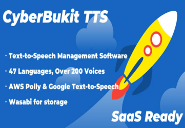 CyberBukit TTS - Text to Speech - SaaS Ready