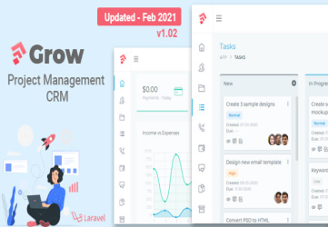 Grow - Project Management CRM With Invoicing Estimates Leads And Tasks