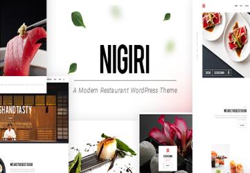 Nigiri - Restaurant Theme