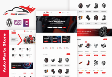 Sayara -  Auto Parts Store WooCommerce WordPress Theme