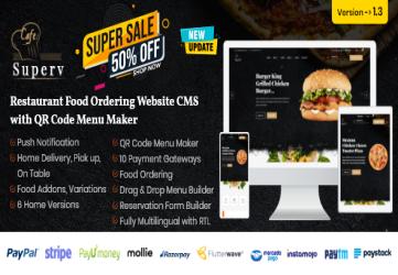 Restaurant Website Management with QR Code Menu & Food Order