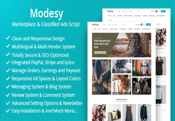 Modesy - Marketplace & Classified Ads Script