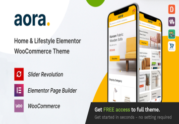 Aora - Home & Lifestyle Elementor WooCommerce Theme