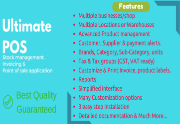 Ultimate POS - Best Advanced Stock Management, Point of Sale & Invoicing application