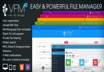 Veno File Manager - host and share files