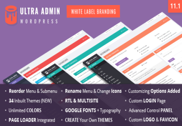 Ultra WordPress Admin Theme