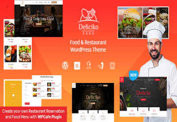 Deliciko - Restaurant WordPress Theme