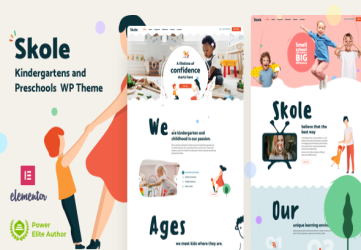 Skole - School Kindergarten WordPress Elementor