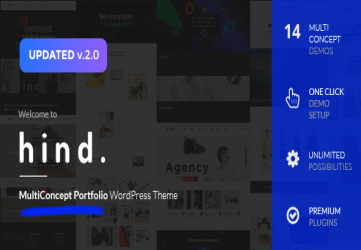 Hind - Multi-Concept Portfolio & Photography WordPress Theme