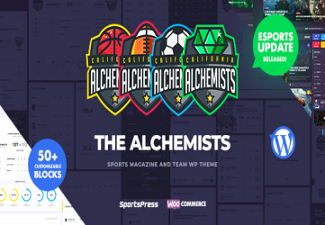 Alchemists - Sports, eSports & Gaming Club and News WordPress Theme