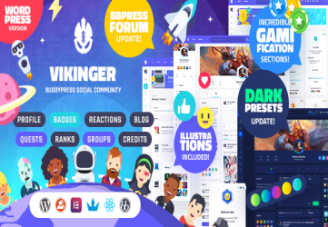 Vikinger - BuddyPress and GamiPress Social Community