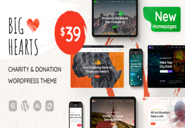 BigHearts - Charity & Donation WordPress Theme