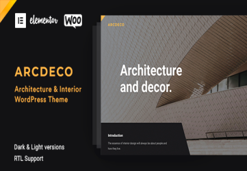 Arcdeco - Architecture Interior Design Theme