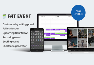 FAT Event - WordPress Event and Calendar Booking