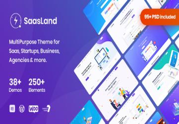 Saasland - MultiPurpose WordPress Theme for Startup Business