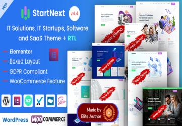 StartNext - IT & Business Startups WordPress Theme